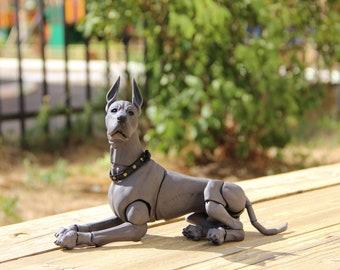 1:6 Porcelain BJD doll dog. Boy. Great Dane 25cm.