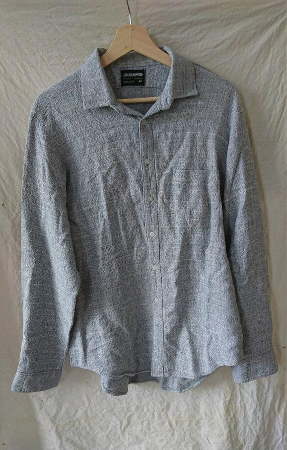 Shirt vintage long sleeve long sleeve grey
