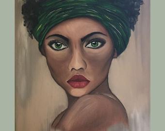 Faceless Portrait Woman original oil painting