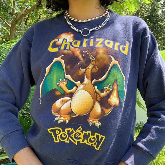 rare vintage 1999 Charizard Pokemon crewneck