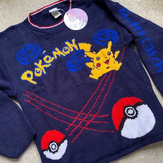 vintage 1998 knit Pokémon sweater