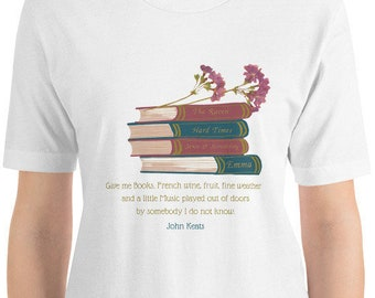 Classic Author Signature John Keats Short-Sleeve Unisex T-Shirt