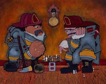 Firehouse: Fine Art Print