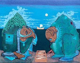 Backgammon: Fine Art Print