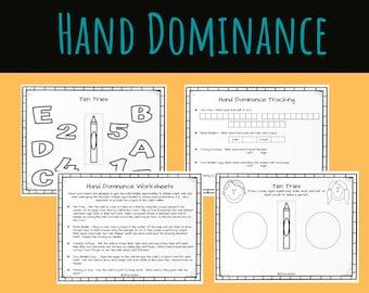 Hand Dominance Fine Motor Activity Packet