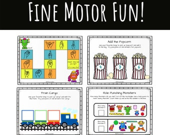 Fine Motor Fun! Downloadable Activity Packet for Occupational Therapists and Parents