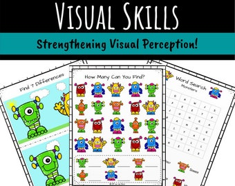 Visual Skills Activity Packet for Occupational Therapists, Teachers, and Parents