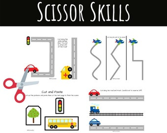Scissor Skills Activity Packet for Occupational Therapists, Parents, and Teachers