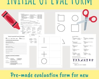 Pediatric Occupational Therapy Initial Evaluation Form