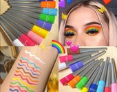 Bright Neon Eyeliner Colourful Liquid Cosmetics Bold Matte Pen Waterproof Eyes Festival Rave Party Makeup Pencil