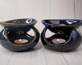 Abstract Blue Fragrance Burner Oil Burner Home Decor Aroma Lamp Aroma Warmer Oil Warmer Home Fragrance Aromatherapy Living