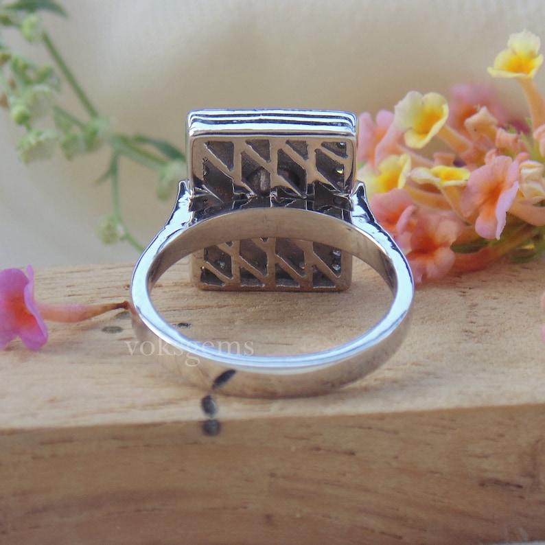 Silver Polki Ring Silver Diamond Polki Ring- Rose Cut Polki Diamond Ring Victorian Jewelry Ring Wedding Gift Ring Diamond Gold Ring
