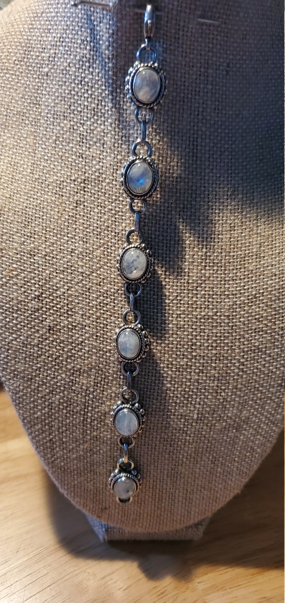 Rainbow Moonstone bracelet