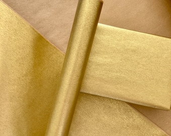 Gold Kraft Christmas Wrapping Paper, Gift Wrapping paper,Eco Friendly Kraft Paper,100% Recycled & Recyclable, Luxury Birthday Gift Wrap
