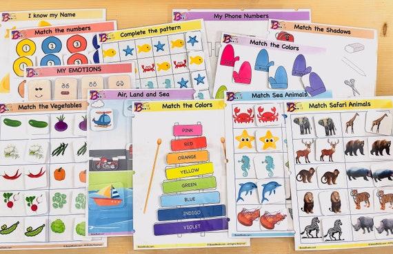 Toddler Bundle  B  Busy Book Bundle  Learning Binder  Kids
