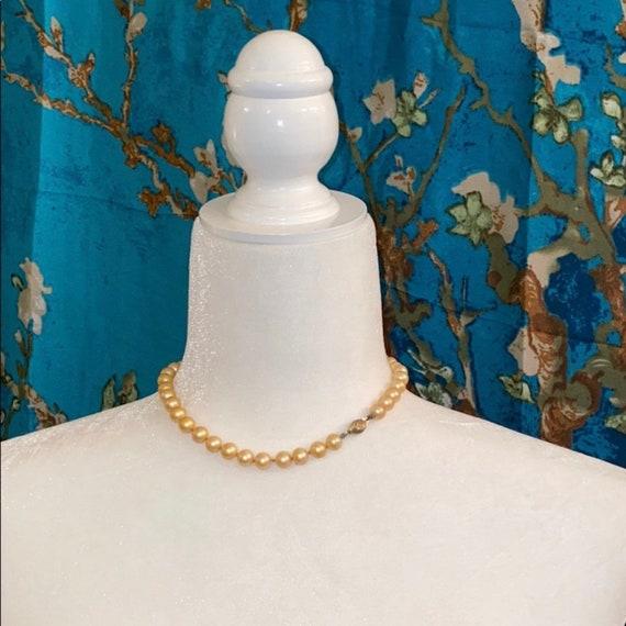 Marvella *Antique* Glass Pearl Choker - image 1