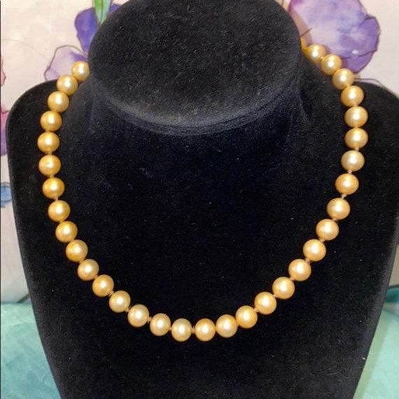 Marvella *Antique* Glass Pearl Choker - image 4