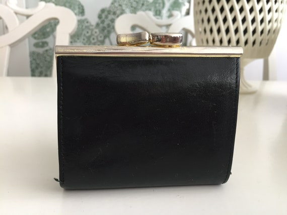 Vintage Purse Wallet | Black Real Leather Purse |