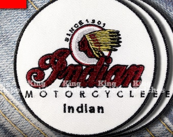 Large Size INDIAN MOTORCYCLE Patch Iron on Custom Unique Jacket T-Shirt Outfit Clothing Flag Classic Touring Vintage Retro Old School Biker