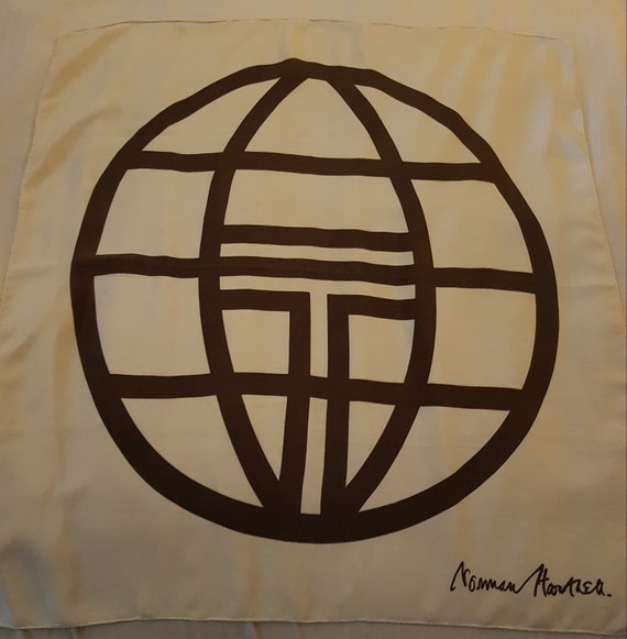 Rare Vintage Silk Scarf by Norman Hartnell