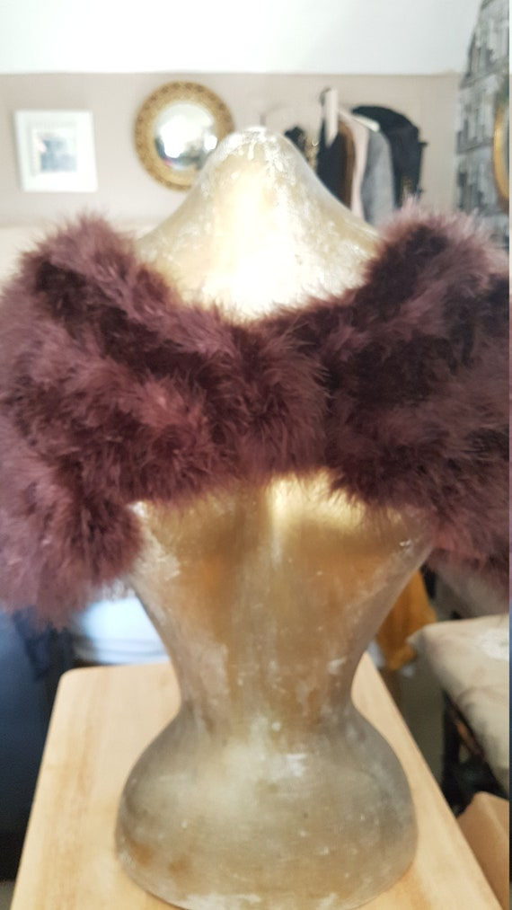 Vintage Marabou Feather Stole