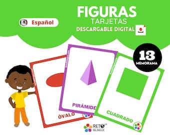 FIGURAS MEMORAMA * Montessori Flashcards *