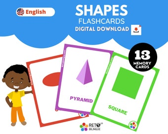 SHAPES MEMORY CARDS * Montessori  Flashcards*