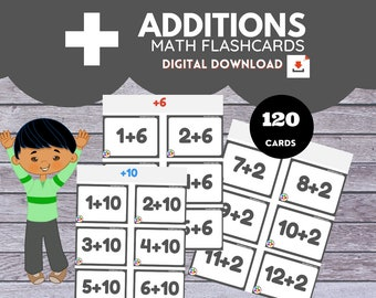 ADDITIONS * Math Flashcards*