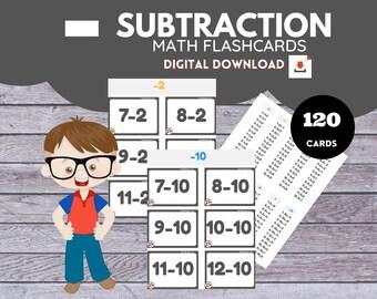 SUBTRACTION * Math Flashcards*