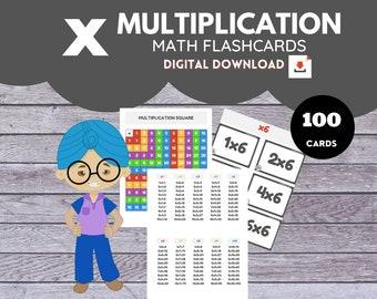 MULTIPLICATION * Math Flashcards*