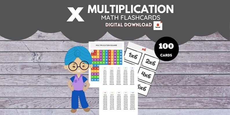 MULTIPLICATION  Math Flashcards image 0