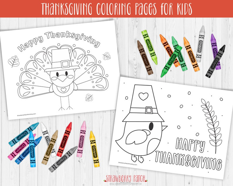 Kids Thanksgiving Coloring Pages Printable Thanksgiving