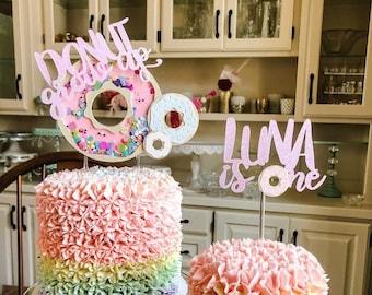 Donut Grow Up Cake Topper Set, Donut Cake Topper, Donut Shaker Cake Topper, Shaker Cake Topper, Donut Grow Up Party Decor, Donut 3D topper