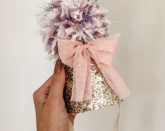 Whimsical Party Hat, Party Girl Hat, Birthday Hat, Heirloom Birthday Hat