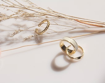 14K Solid Yellow  Gold 3 Pieces of Stack  Ring Set Twisted,Smooth Ring Set,1.05mm and 1.50mm Thin Stacking Ring Set Real Yellow Gold Rings