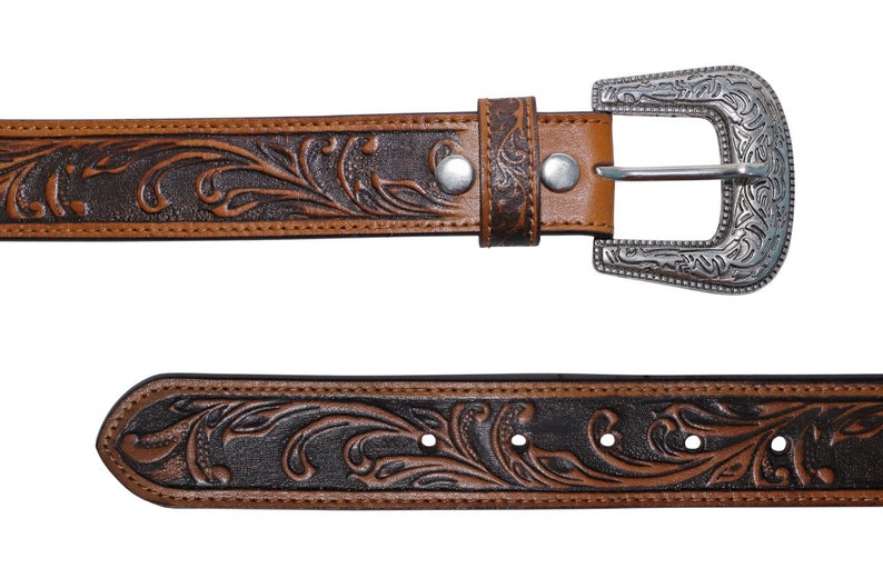 Western Leather Belt L1 002