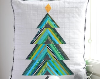 Evergreen Tree Quilt - Foundation paper piecing pattern