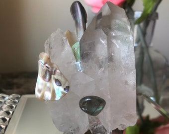 Sea inspire crystal cluster for healing, strength, and tranquility