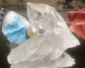 Ocean inspired crystal cluster for clarity