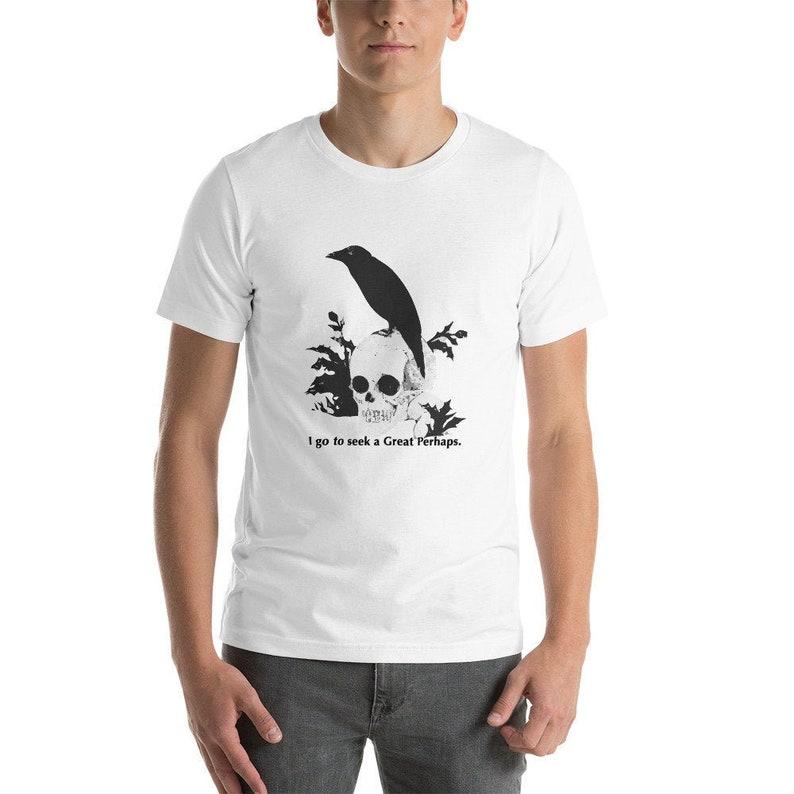 Graphic T-Shirt Fran\u00e7ois Rabelais I go to seek a Great Perhaps Goth Shirt Aesthetic Shirt Philosophy T-Shirt