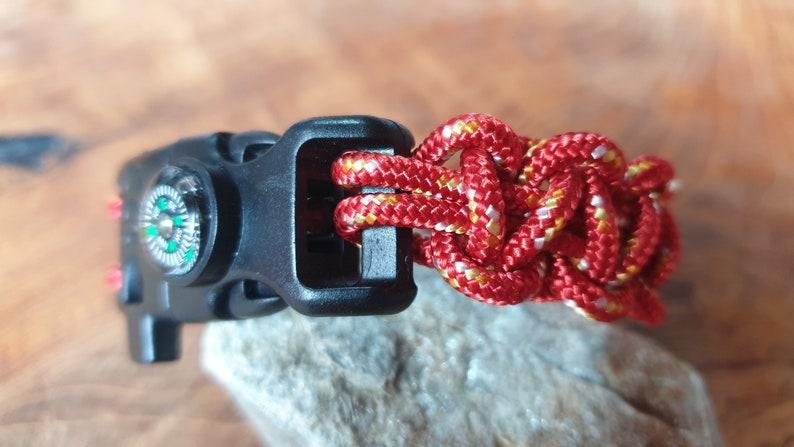 Man survivor bracelet gift paracord outdoors camping climbing sport mountain lover Cadeau homme loisir escalade plein air multifuction