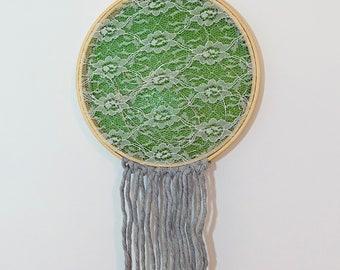 Green/ Grey Lit Dream Catcher