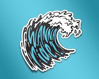 Wave: Wanna Ride? Vinyl Sticker