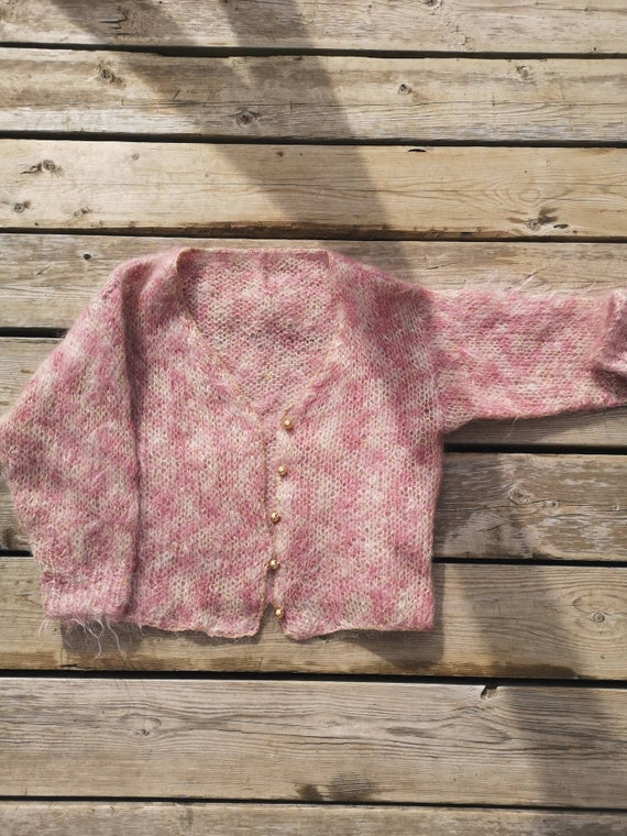 Woman cardigan, Pinky Fluffy Mohair Jacket - image 6
