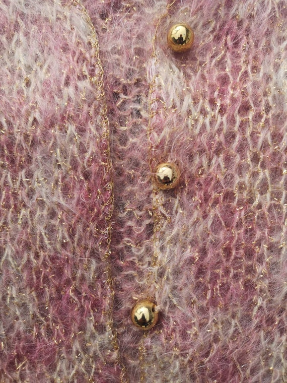 Woman cardigan, Pinky Fluffy Mohair Jacket - image 7