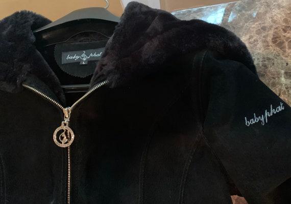 Vintage Baby Phat large suede jacket