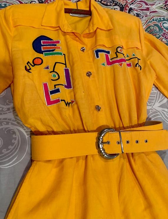 Authentic vintage Saint Germain Paris yellow jumps