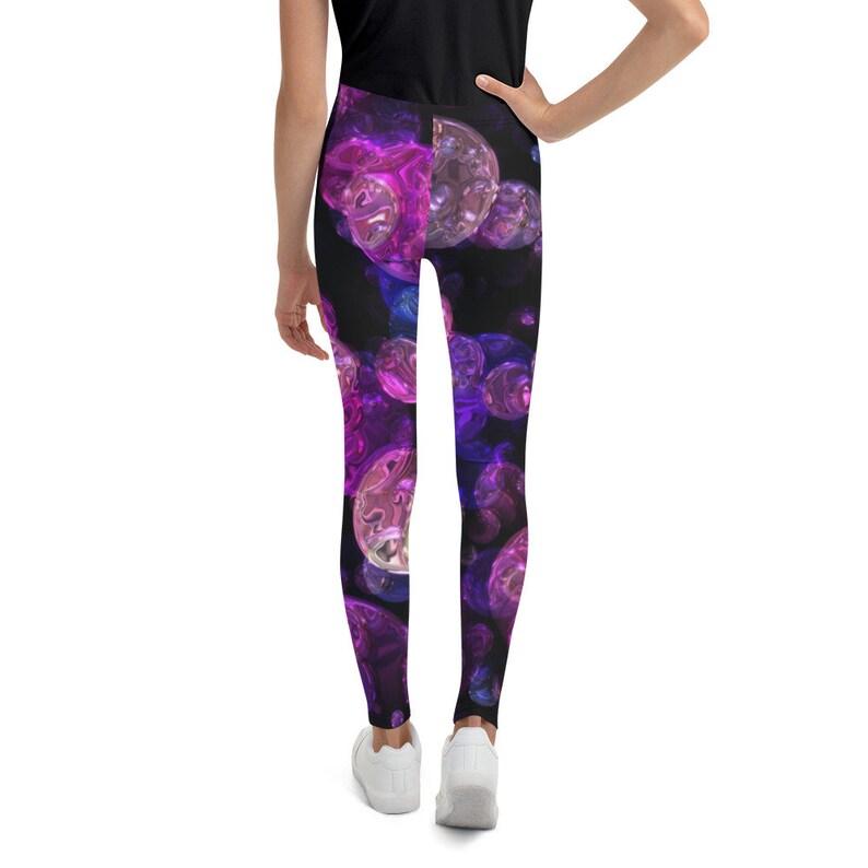 Blue /& Purple Lights Pattern Youth Leggings