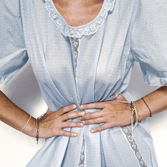 romantic 60s cotton nightgown