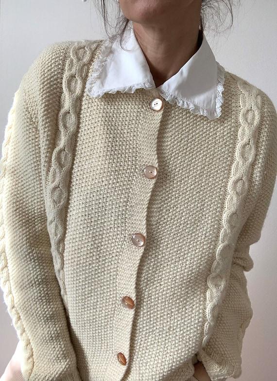 Handmade wool cardigan